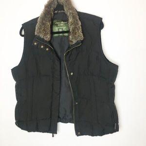 SZ XL Goose Down Eddie Bauer Collar Puff Vest